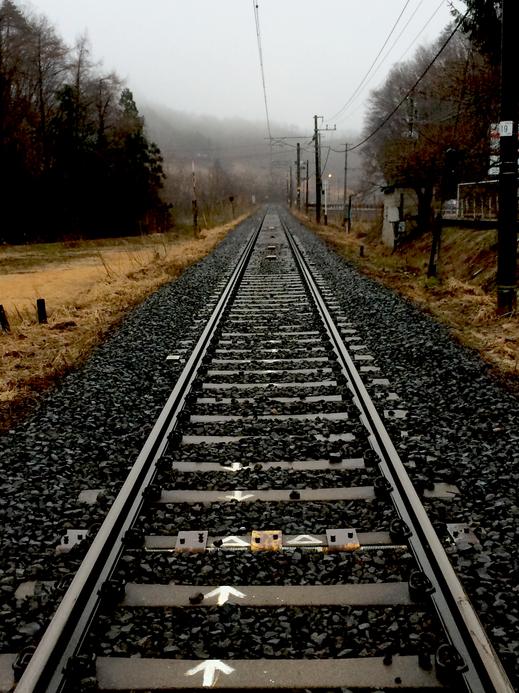 山形新幹線の線路