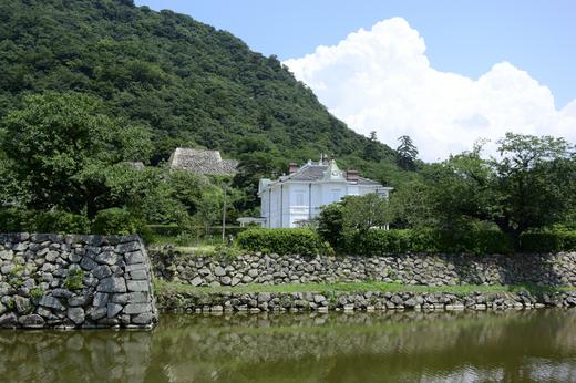 鳥取城石垣と仁風閣