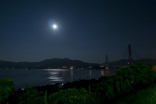 スーパームーン前夜の眺め