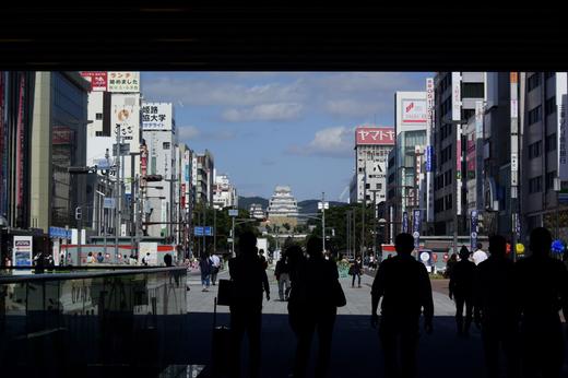 姫路駅から見た姫路城