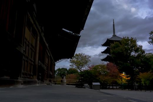 東寺の夕暮れ