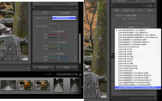 Lightroom calibration