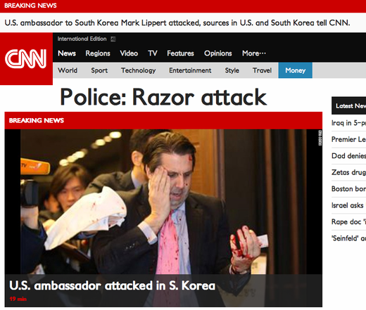 Ambassador attacked in South Korea