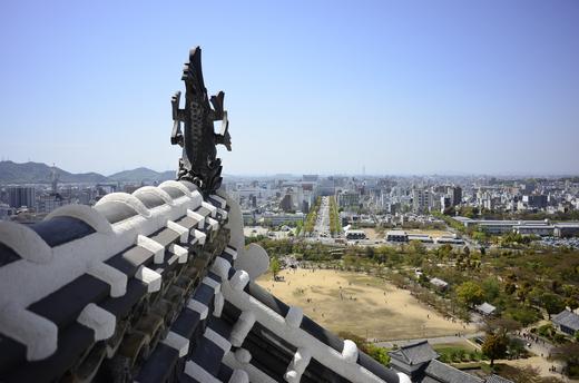 姫路城大天守より南方を眺める