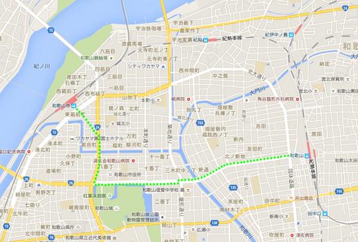 和歌山市内地図