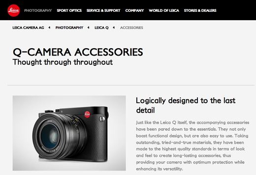 Official Leica site's google cashe