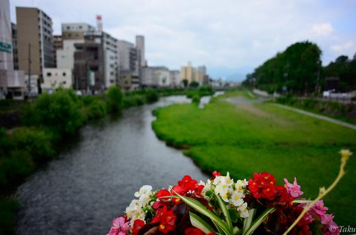 中津川の眺め