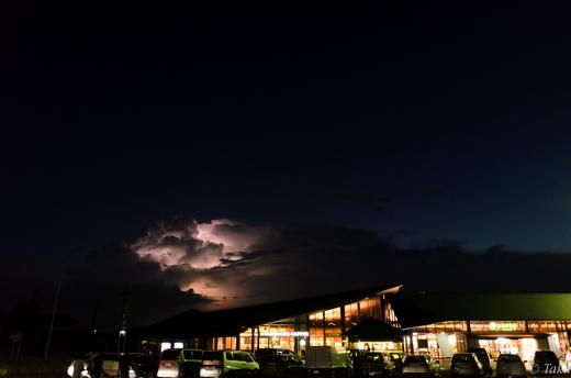 羽生SAから見た雷雲