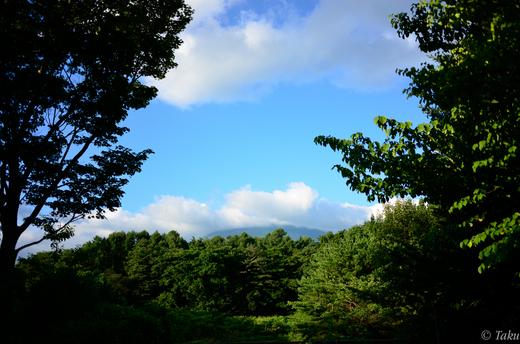 岩手山SAから岩手山を望む
