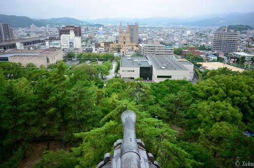 福山城からの眺望