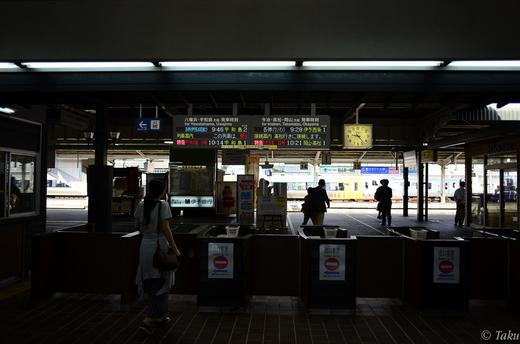 JR松山駅改札
