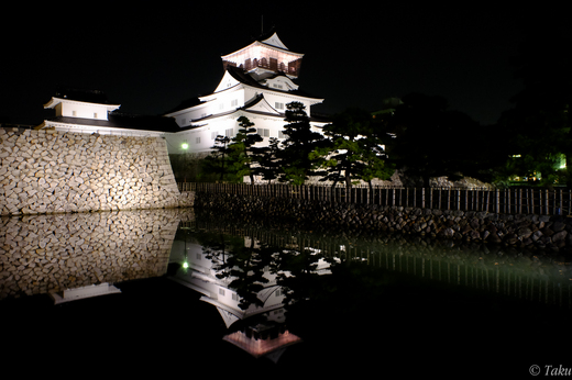 富山城ライトアップ