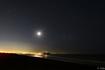 月明かりの江ノ島と夜景
