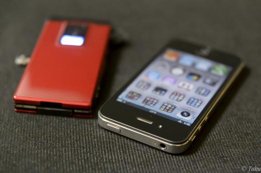スリープボタンの壊れたiPhone 4Sと復活したP703iμ
