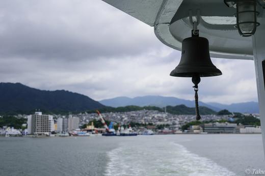 宮島口から出航する